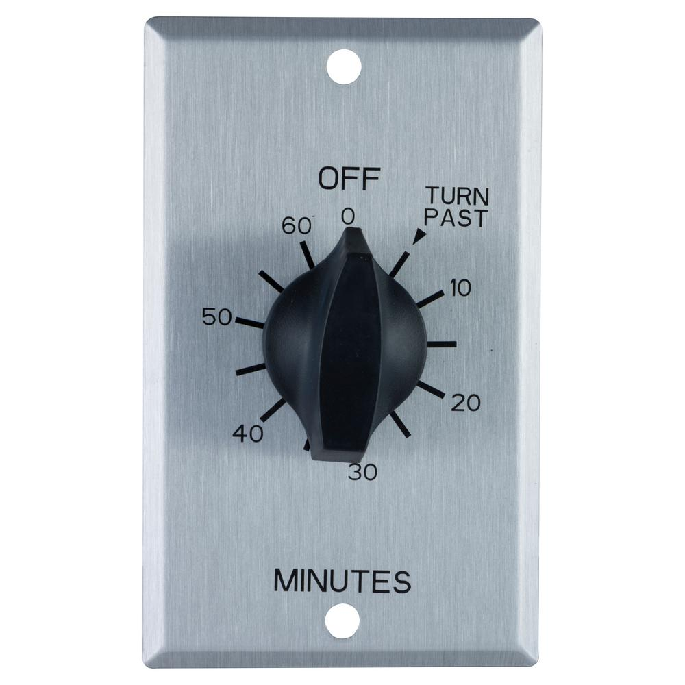 hight resolution of defiant 20 amp 60 minute in wall spring wound timer switch with stainless steel