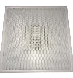 drop ceiling t bar perforated face air vent register white with 6 in collar [ 1000 x 1000 Pixel ]