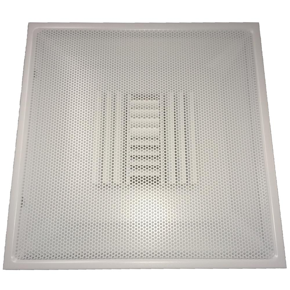 medium resolution of drop ceiling t bar perforated face air vent register white with 6 in collar