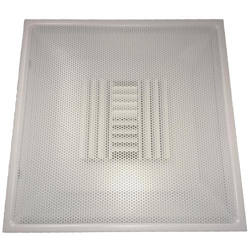 small resolution of drop ceiling t bar perforated face air vent register white with 6 in collar
