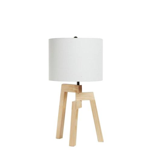 small resolution of wood brown tripod table lamp with shade
