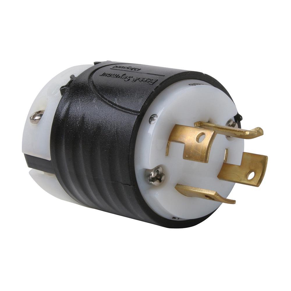 nema 14 30 plug wiring diagram cat5 wall socket reliance controls twist lock amp 125 250 volt l1430p the non 20 120 208 locking black white