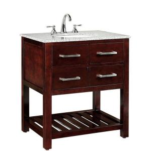 Home Decorators Collection Fraser 31 in W x 2112 in D Bath Vanity in Espresso with Solid