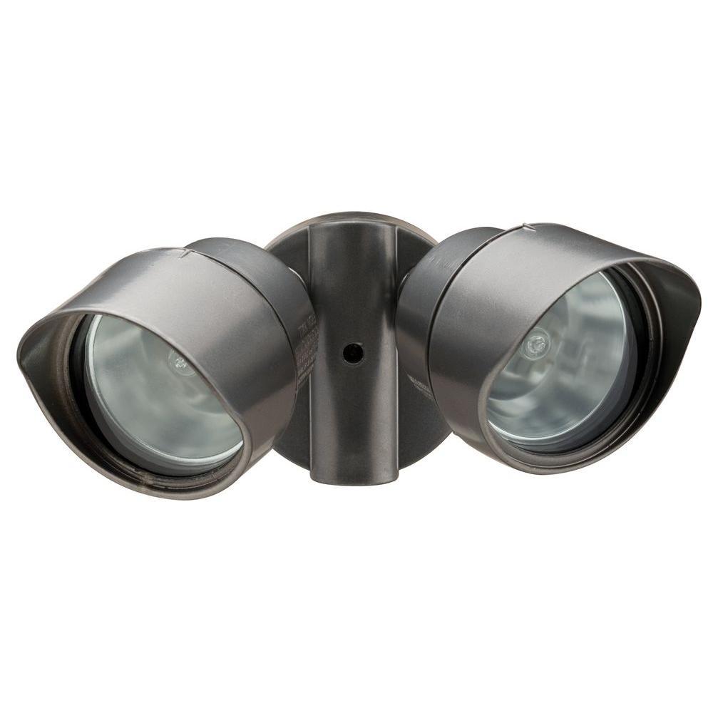 hight resolution of lithonia lighting 2 lamp outdoor bronze flood light