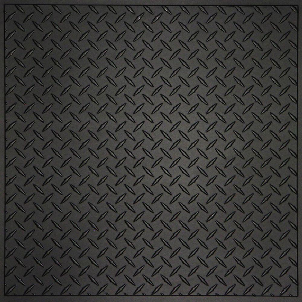 ceilume diamond plate black