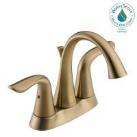 Delta Lahara 4 in. Centerset 2-Handle Bathroom Faucet with ...