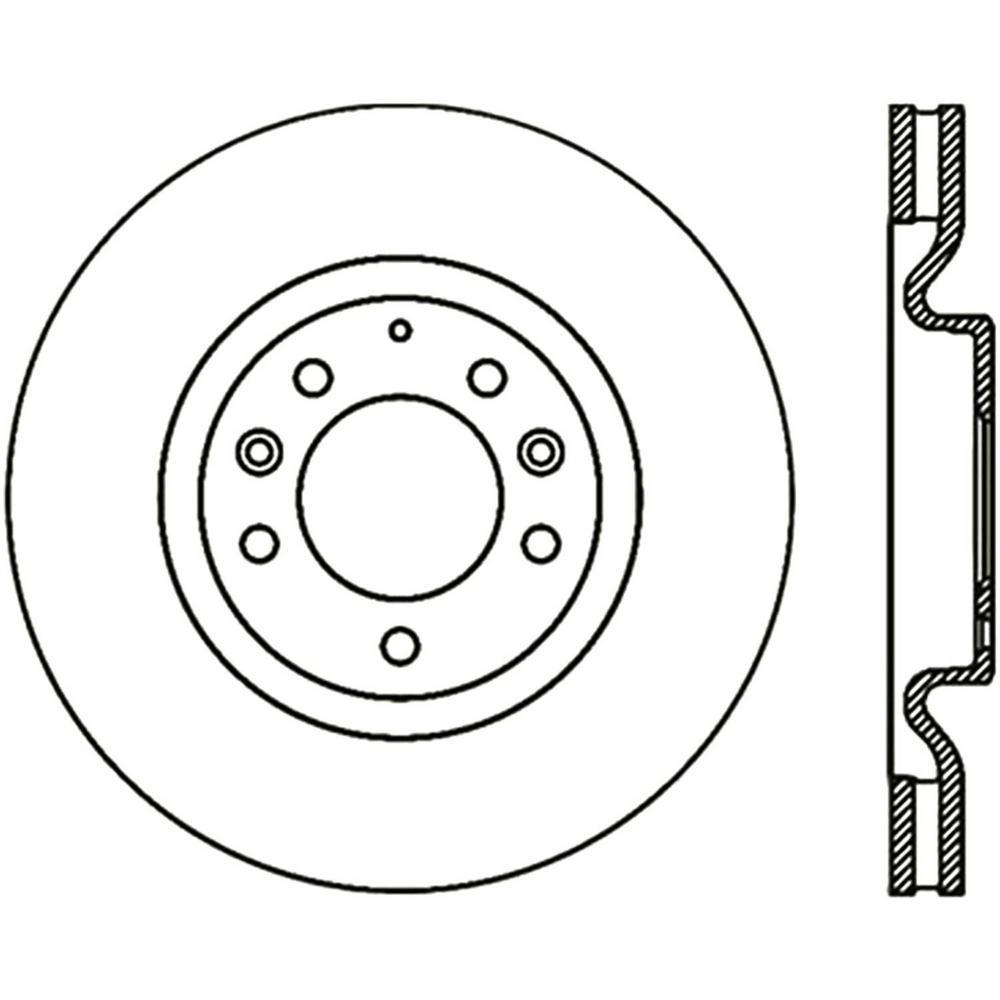 Centric Disc Brake Rotor 2004-2008 Mazda RX-8 1.3L-121