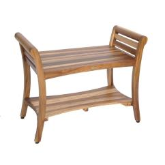 Teak Shower Chairs With Arms Gandia Blasco Clack Chair Ecodecors Earthyteak Symmetry 29 In Bench Shelf And Liftaide