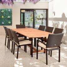 Hampton Bay Kapolei 7-piece Wicker Outdoor Dining Set With