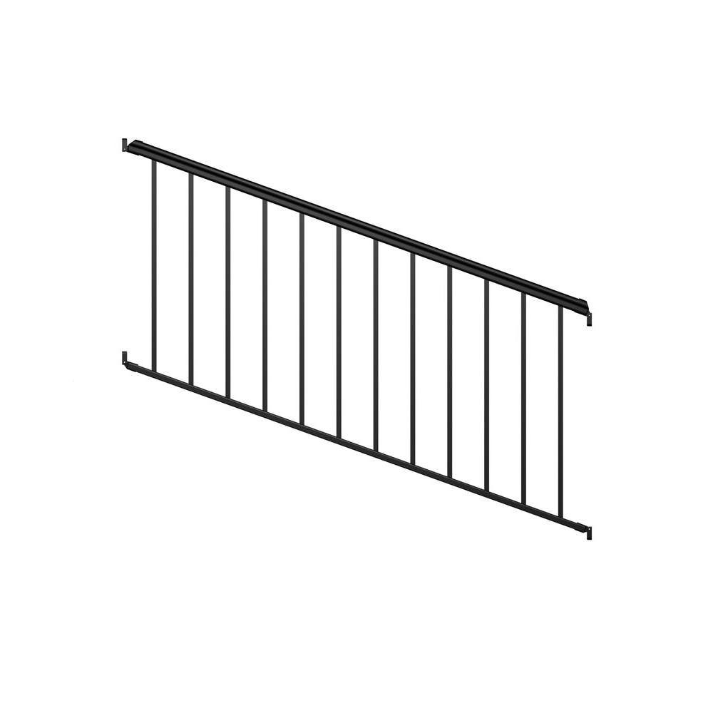 medium resolution of black fine textured aluminum stair rail kit 1 qty