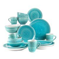 Fez 20-Piece Turquoise Dinnerware Set-Fez 86517TGB - The ...