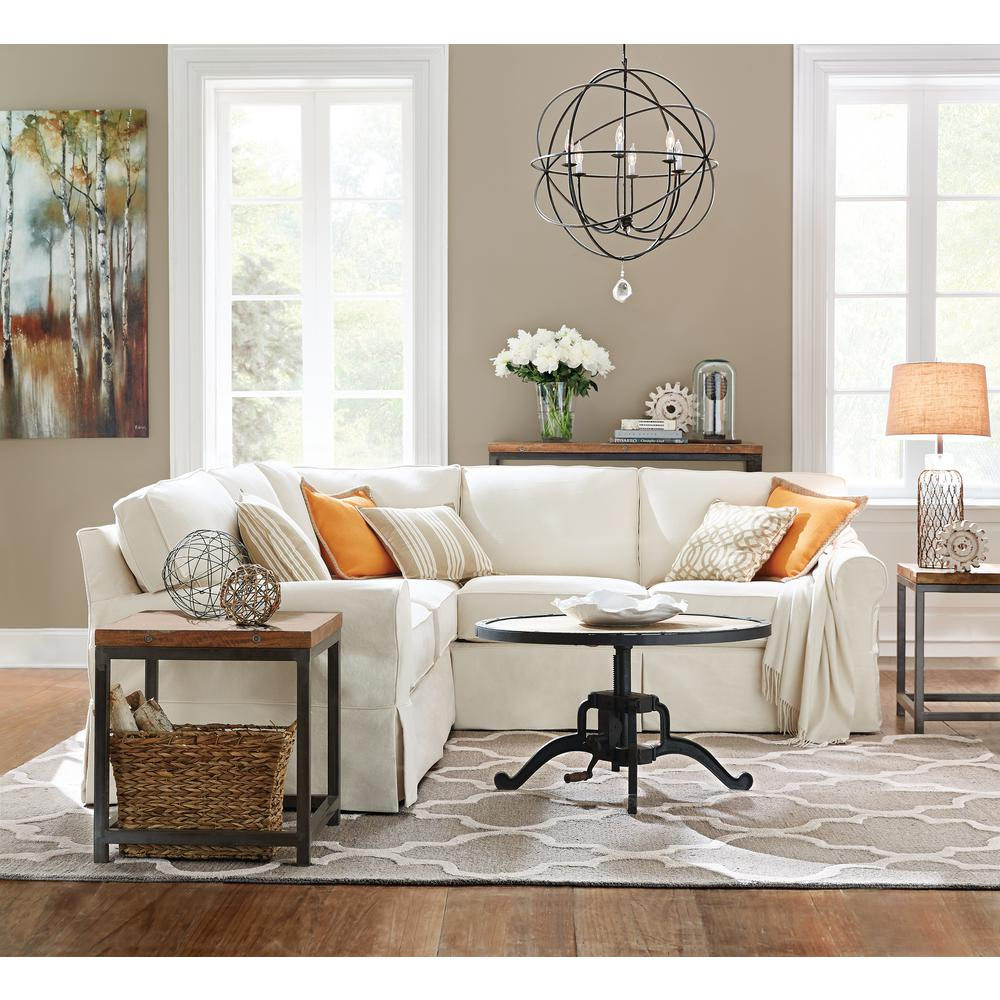 Home Decorators Collection Mayfair 2Piece Classic Natural Sectional8426100830  The Home Depot