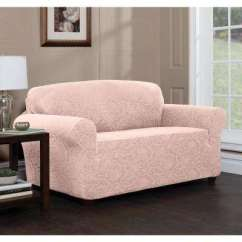 Pink Slipcover Chair Aeron By Herman Miller Manual Slipcovers Living Room Furniture The Home Depot Stretch Floral Loveseat