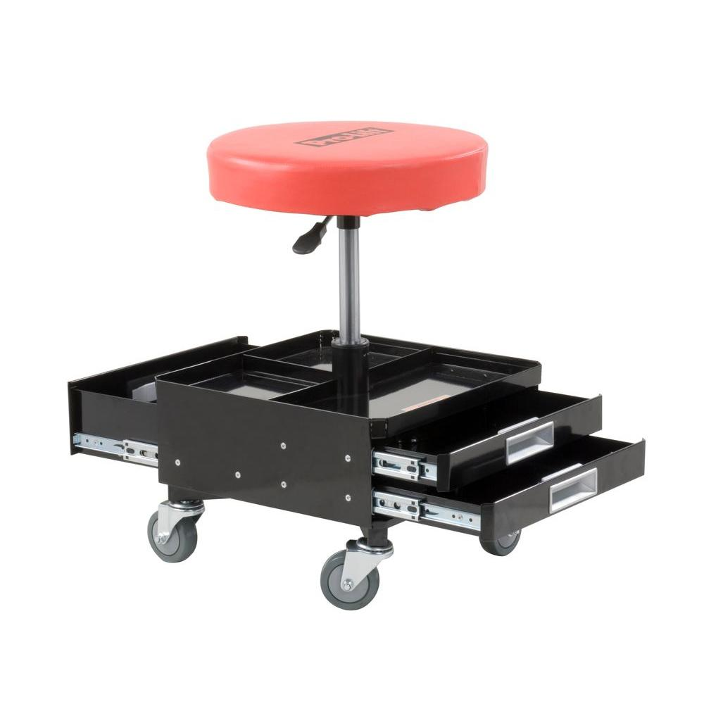 garage chairs rolling ergonomic chair uk ikea pro lift pneumatic with dual tool trays c 3100 the home depot