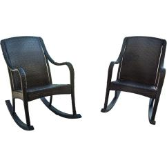 Wicker Patio Chair Set Of 2 Bar Height Desk Chairs Hanover Orleans Piece Rocking Orleans2pcrkr The
