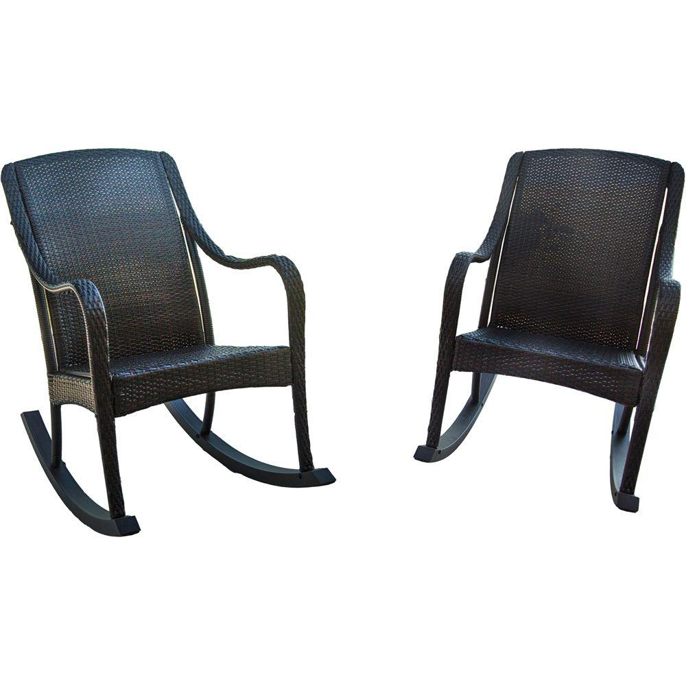 Outdoor Rocking Chair Set Hanover Orleans 2 Piece Rocking Patio Chair Set