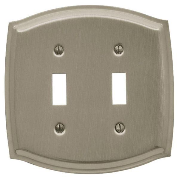 Baldwin Colonial 2 Toggle Wall Plate - Satin Nickel-4766
