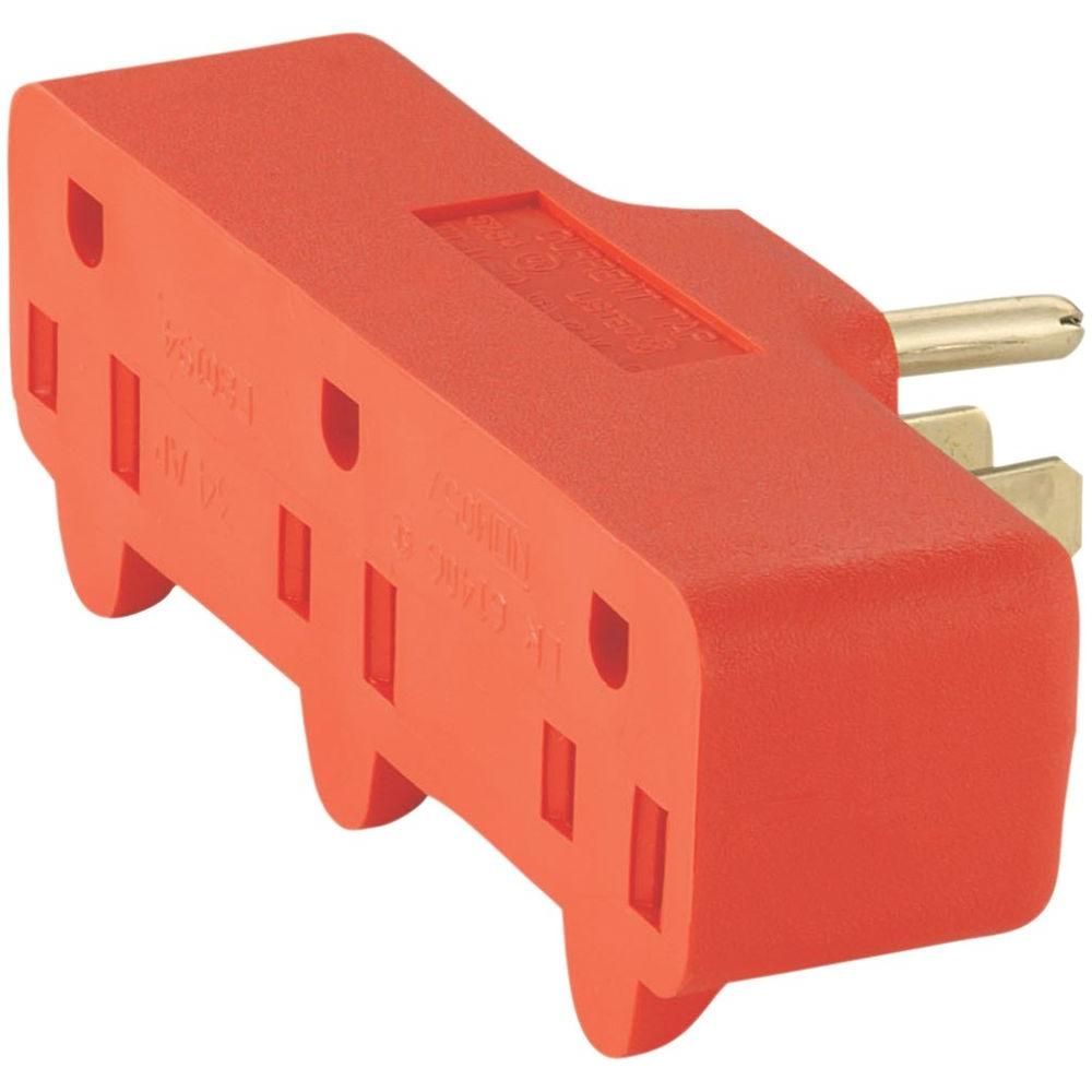 hight resolution of eaton 15 amp 125 volt 5 15 three outlet tap orange