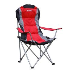 Beach Chairs With Footrest White Chair Covers Canada Gigatent Padded Camping In Red-cc005 - The Home Depot
