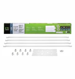 eti 5000k daylight led tubes 60 watt 150 watt equivalent retrofit kit [ 1000 x 1000 Pixel ]