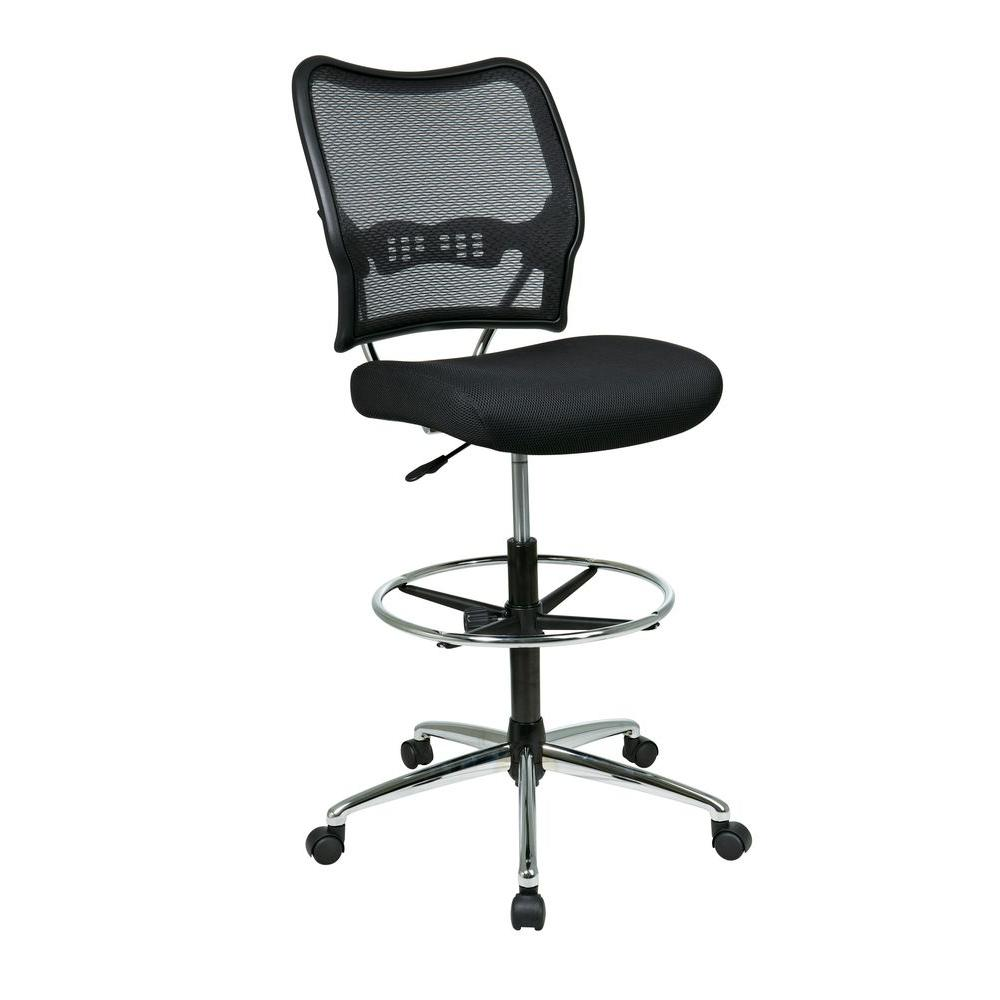 chair mesh stool xbox one space seating deluxe black airgrid back drafting 13 37p500d