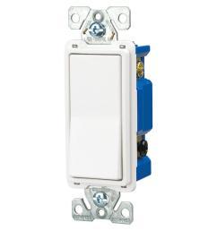 eaton 15 amp 4 way rocker decorator switch white 7504w box the cooper wiring devices 10piece 15amp white single pole light switch [ 1000 x 1000 Pixel ]