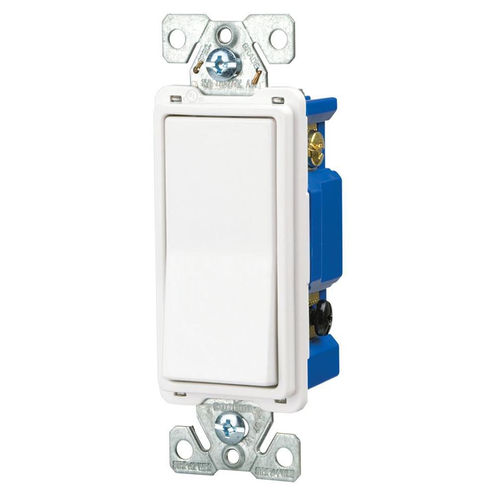 medium resolution of eaton 15 amp 4 way rocker decorator switch white 7504w box the cooper wiring devices 10piece 15amp white single pole light switch