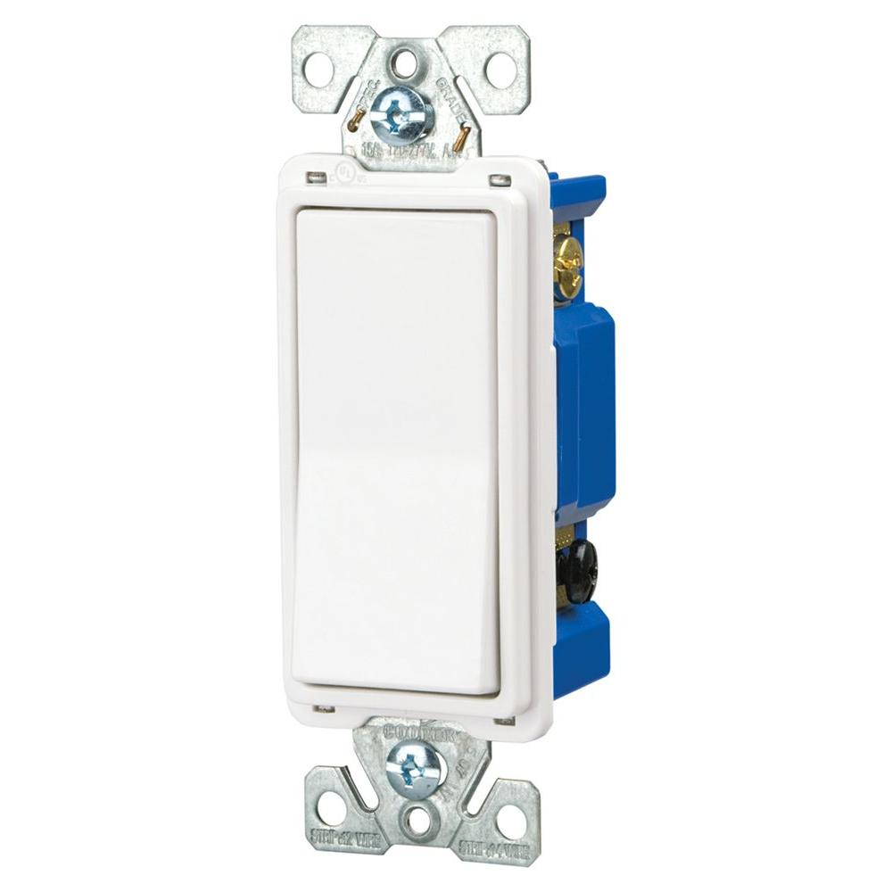 hight resolution of eaton 15 amp 4 way rocker decorator switch white 7504w box the cooper wiring devices 10piece 15amp white single pole light switch