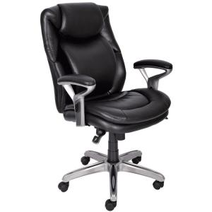 serta office chair 10 year warranty gaming with wheels wellness by design black bonded leather mid back 6