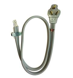 whirlpool 4 ft 3 wire 30 amp dryer cord pt220l the home depot electric dryer cord wiring diagram dryer cord wiring [ 1000 x 1000 Pixel ]