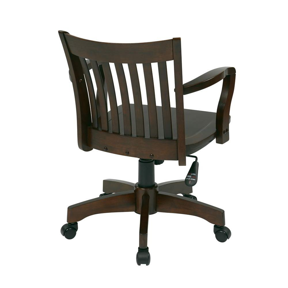 Wooden Bankers Chair Osp Home Furnishings Deluxe Brown Wood Bankers Chair 105es The
