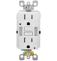 15 amp self test smartlockpro combo duplex guide light and tamper resistant gfci outlet white [ 1000 x 1000 Pixel ]