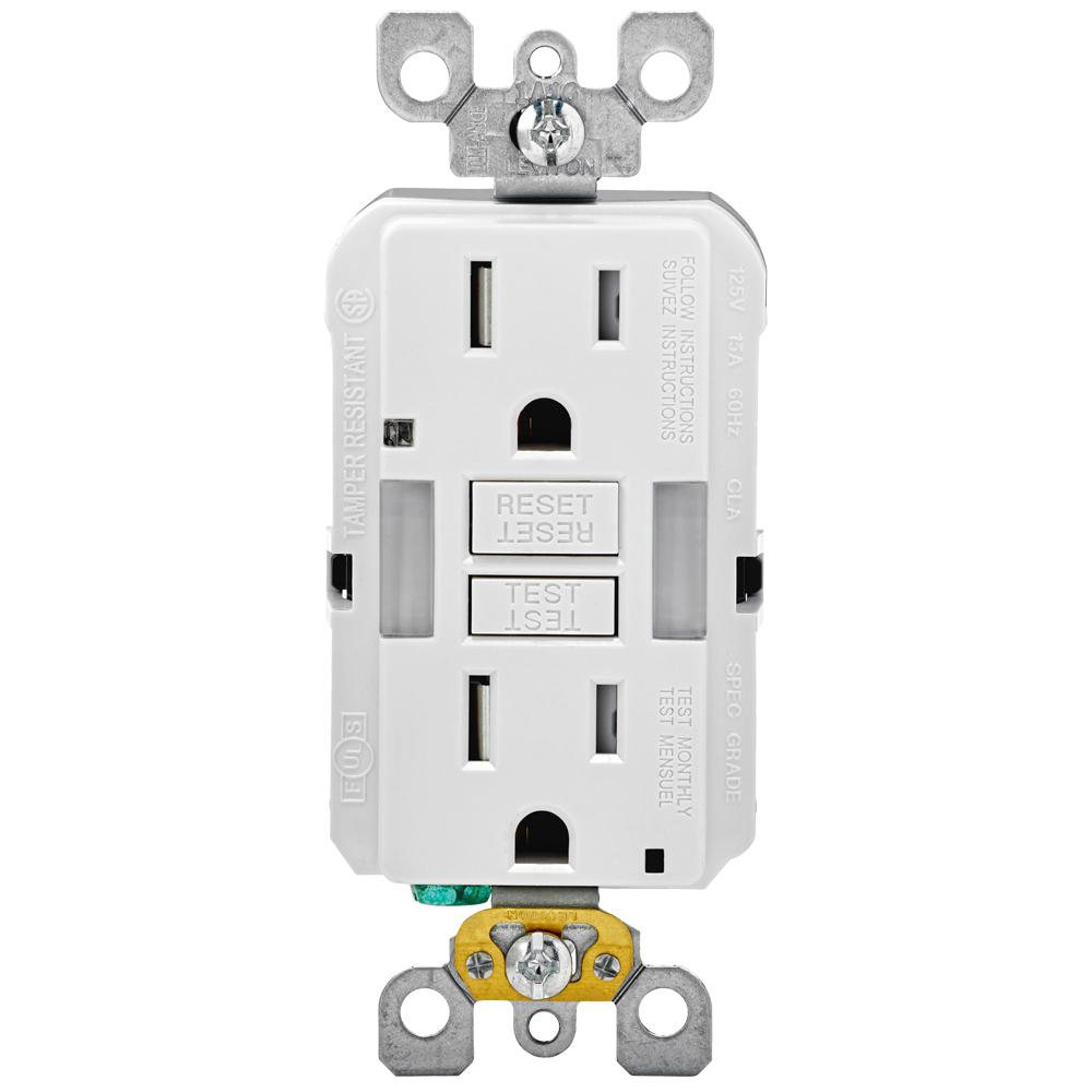 hight resolution of 15 amp self test smartlockpro combo duplex guide light and tamper resistant gfci outlet white