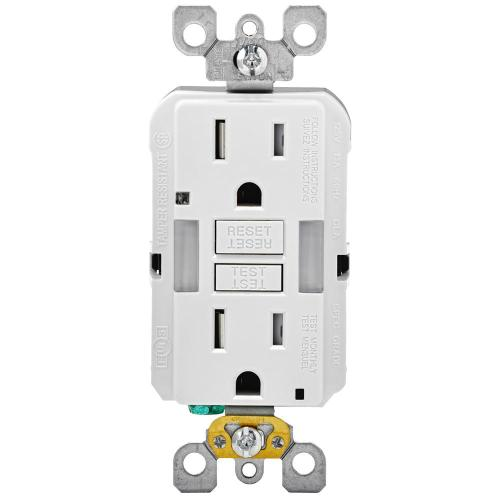 small resolution of 15 amp self test smartlockpro combo duplex guide light and tamper resistant gfci outlet white