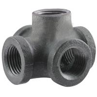 LDR Industries Pipe Decor 1/2 in. Black Iron Cross with