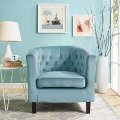 Blue Chair Living Room Calico Critters Deluxe Set Accent Chairs The Home Depot Prospect Sea Velvet Armchair