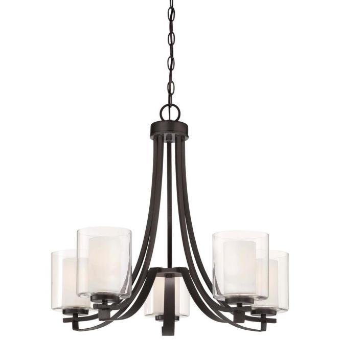 Minka Lavery Parsons Studio 5 Light Brushed Nickel Chandelier 4105 84 The Home Depot