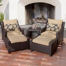 rst brands deco 5-piece patio chat