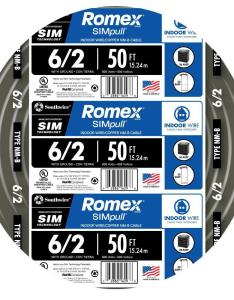 Southwire ft stranded romex simpull cu nm   also  wire rh homedepot