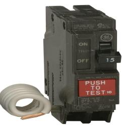 q line 15 amp single pole ground fault circuit breaker thql1115gfp the home depot [ 1000 x 1000 Pixel ]