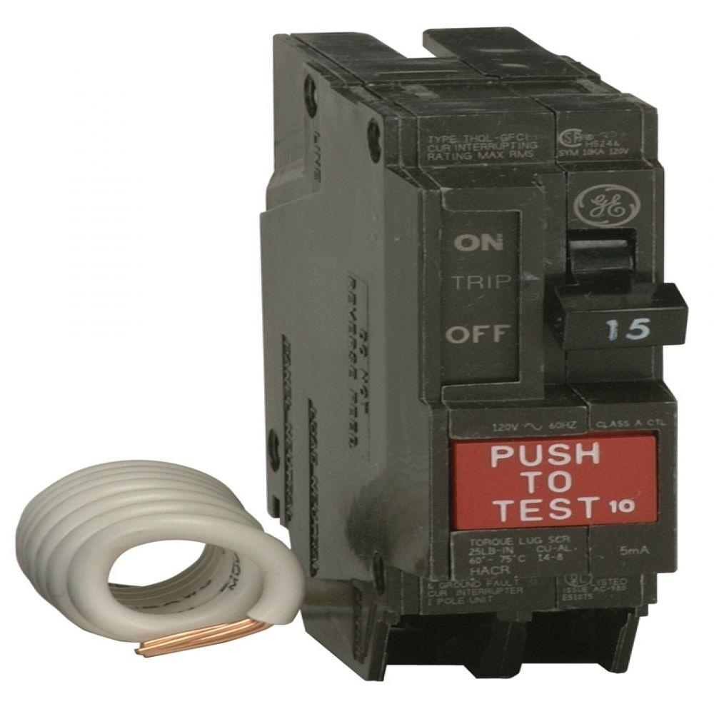 hight resolution of q line 15 amp single pole ground fault circuit breaker thql1115gfp the home depot