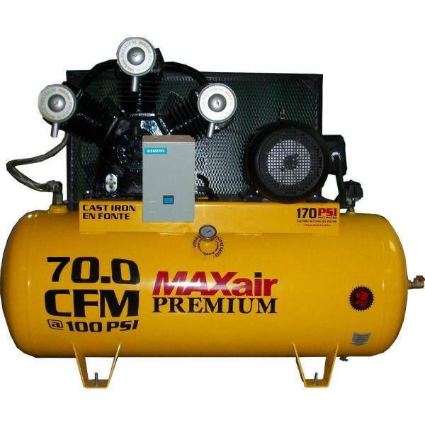 Maxair Premium Industrial 120-gal. 15 Hp Electric 230-volt Single Stage 3-phase Air Compressor