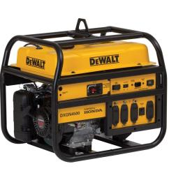 dewalt 4 200 watt gasoline powered manual start portable generator with honda engine [ 1000 x 1000 Pixel ]