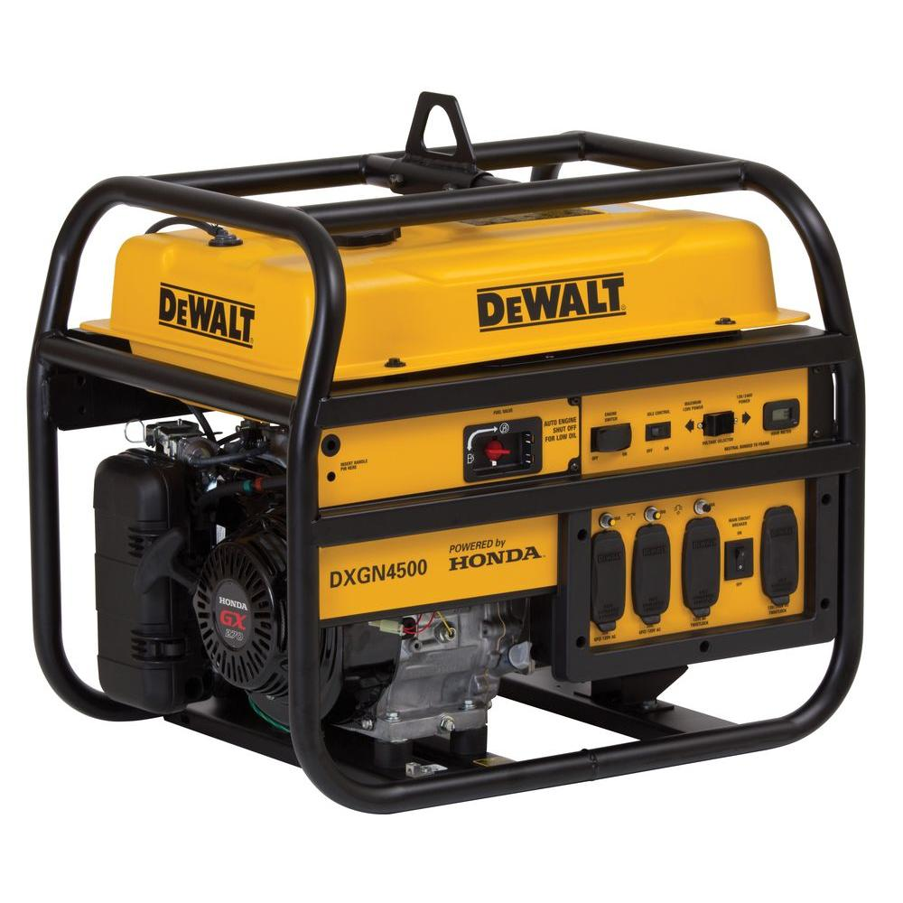 hight resolution of dewalt 4 200 watt gasoline powered manual start portable generator with honda engine