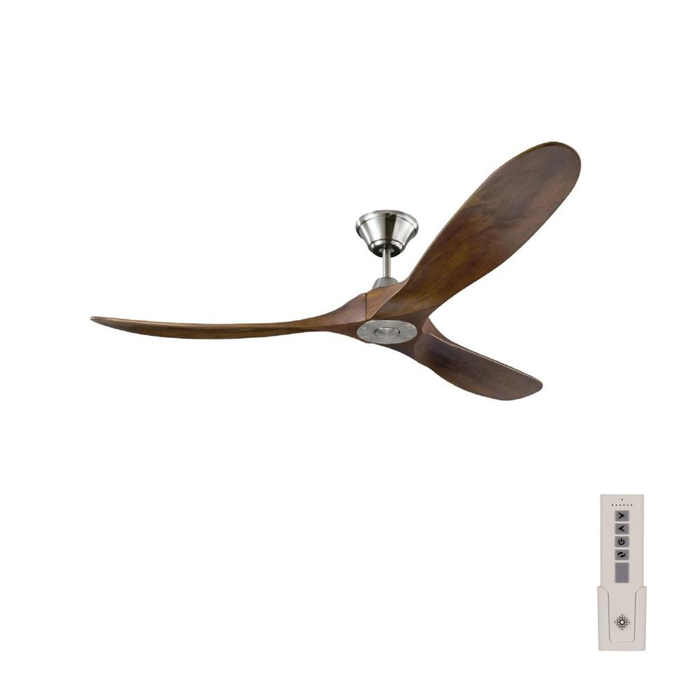 hight resolution of monte carlo maverick 60 in indoor outdoor brushed steel ceiling fan with dark walnut