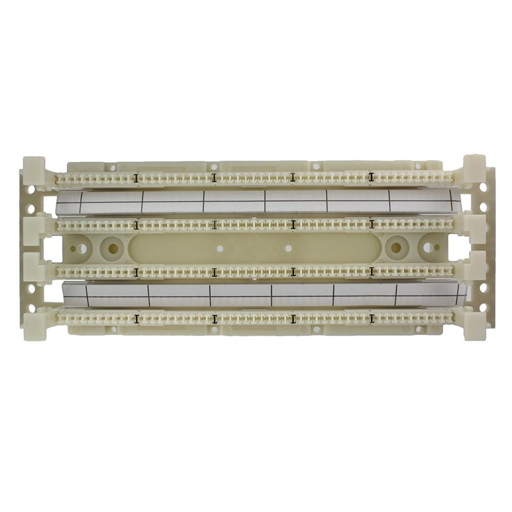 hight resolution of cat 5e 110 style wiring block wall mount with legs ivory 100 pair