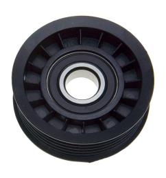 accessory drive belt tensioner pulley alternator water pump and power steering lower  [ 1000 x 1000 Pixel ]
