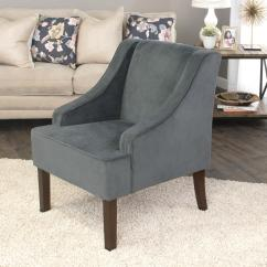 Accent Chairs With Arms Lawn Chair Webbing Kit Homepop Dark Grey Swoop Arm Velvet K6499 B229 The