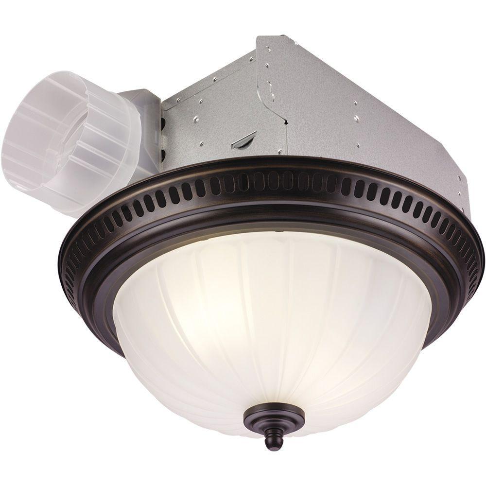 nutone decorative bronze 70 cfm ceiling exhaust fan with light
