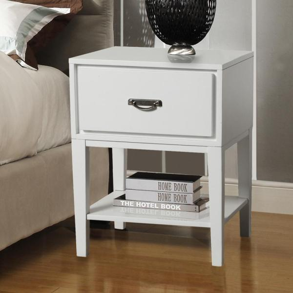 Homesullivan White Storage End Table-40564a161w 3a - Home Depot